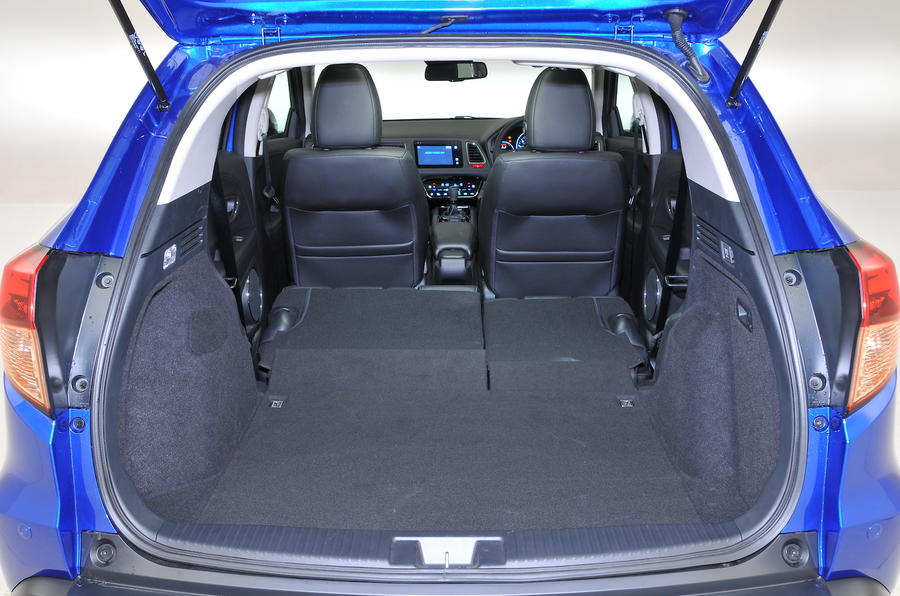 Honda HR-V fully extended boot space