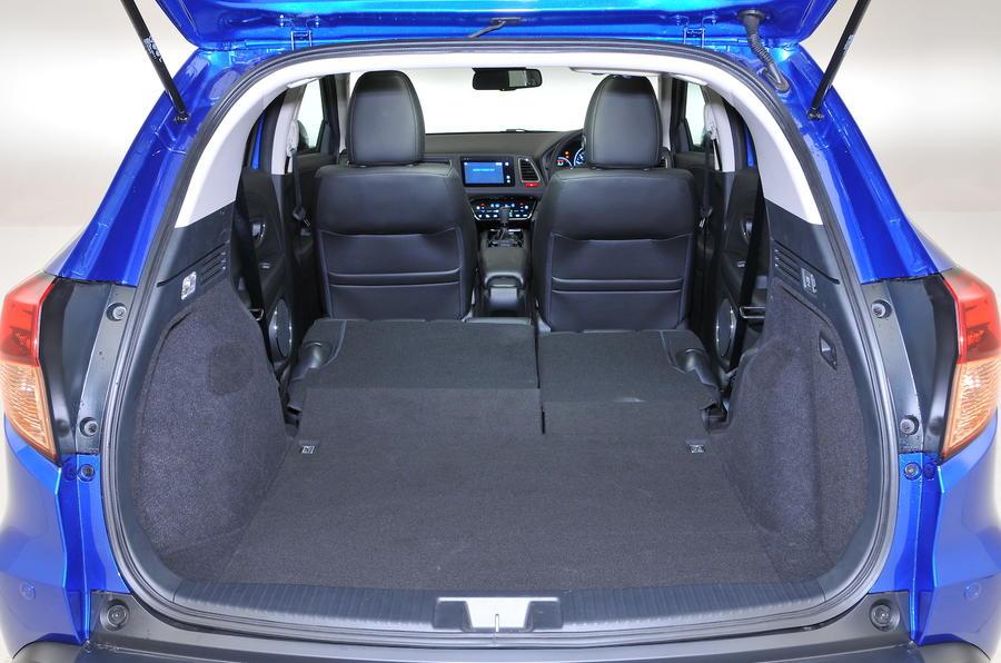 Honda HR-V fully extended boot space