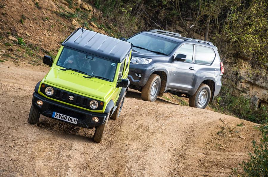 Suzuki Jimny vs  Toyota Land Cruiser off-road | Autocar