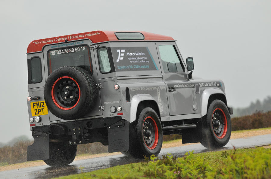 JE Motorworks Defender rear