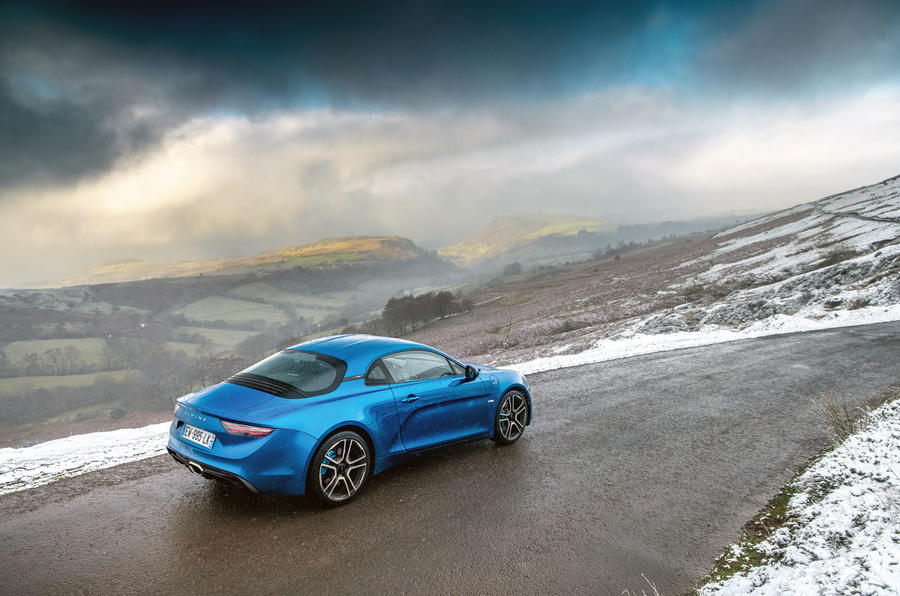 Alpine A110 B-road rear