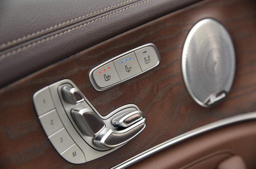 Mercedes-Benz E-Class seat adjustment controls