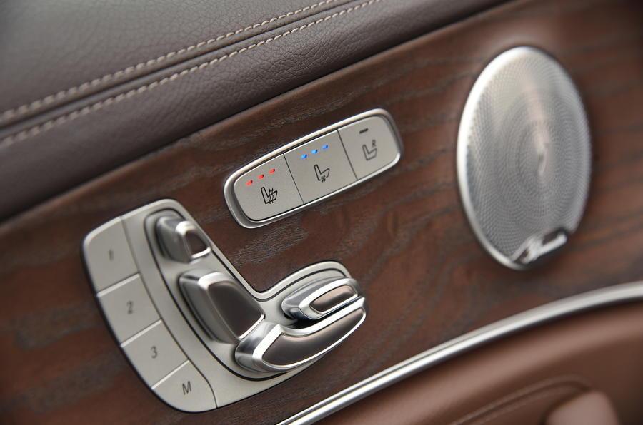 Mercedes-Benz E-Class seat adjustment controls