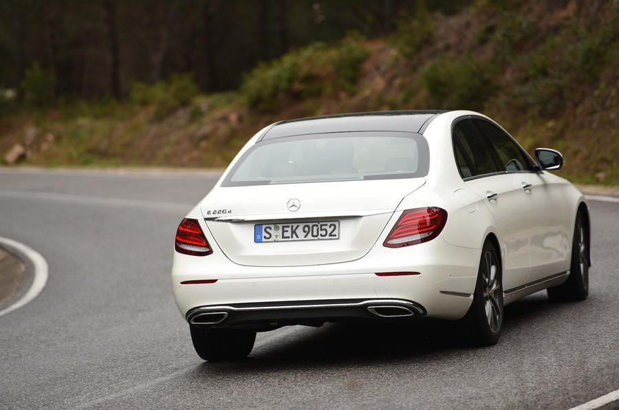 Mercedes-Benz E-Class rear cornering
