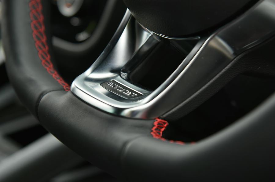 Volkswagen Scirocco GTS steering wheel