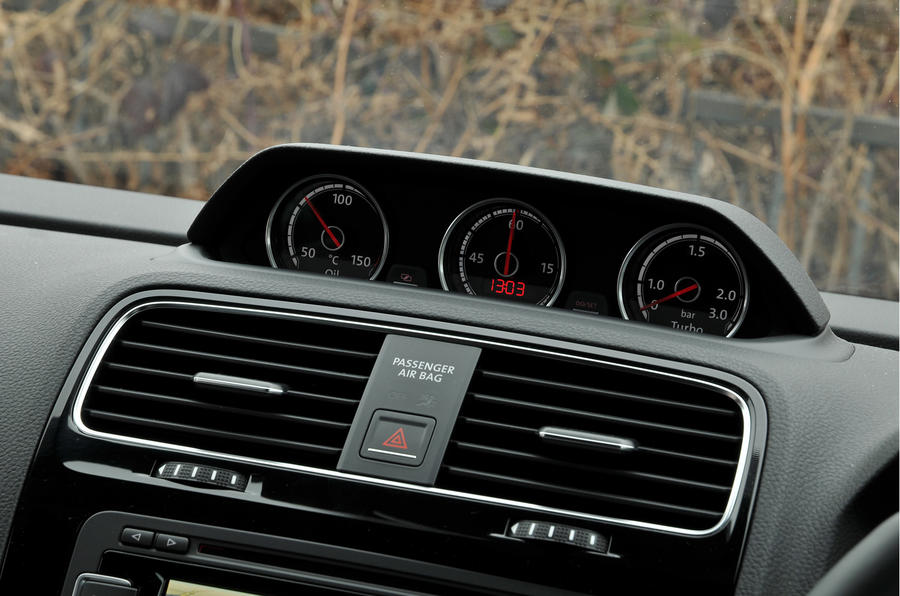 Volkswagen Scirocco turbo gauges