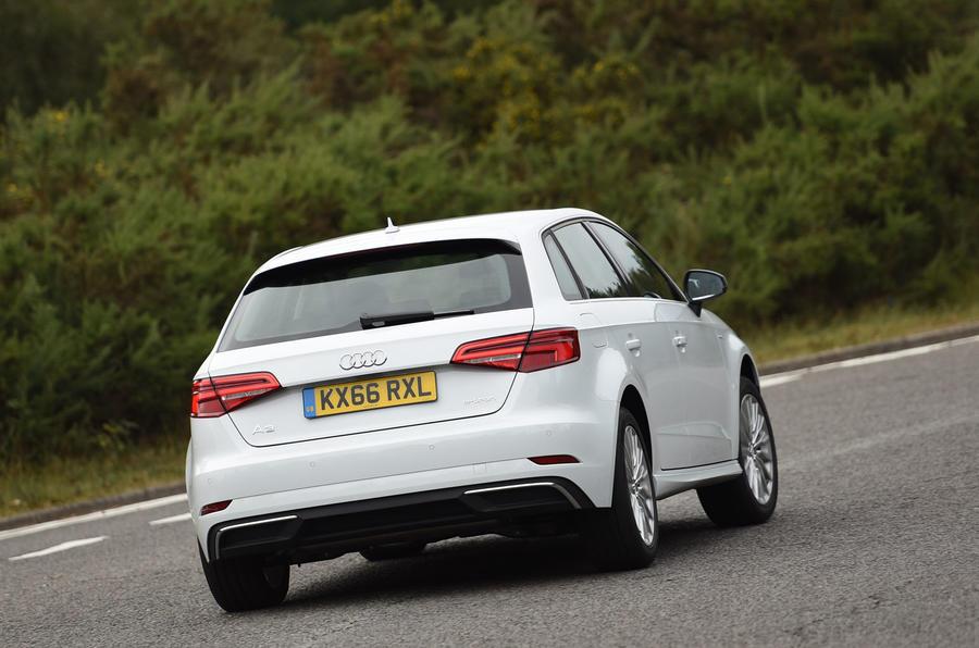 Audi A3 Sportback e-tron hard rear cornering