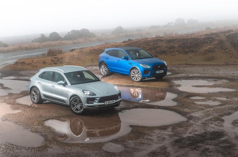 Porsche Macan vs Jaguar E-Pace 2019 - static