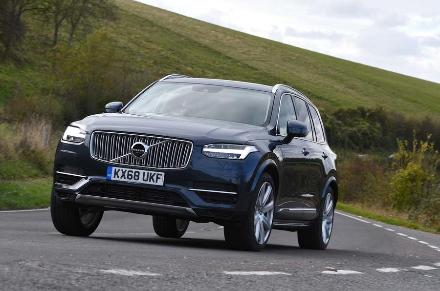 Volvo XC90 driving - front