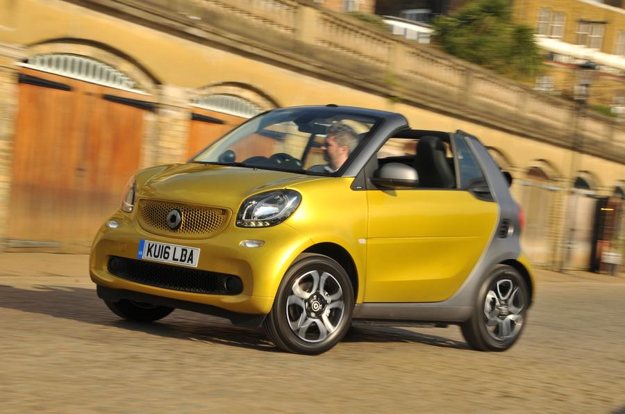 2016 smart fortwo cabrio 71 prime twinamic review review autocar. Black Bedroom Furniture Sets. Home Design Ideas