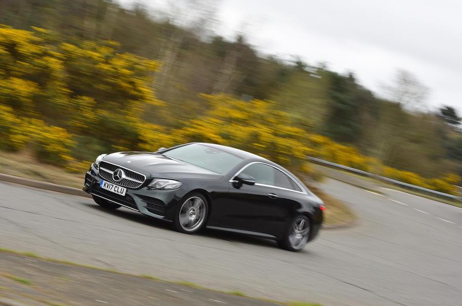 Mercedes E300 Coupe cornering