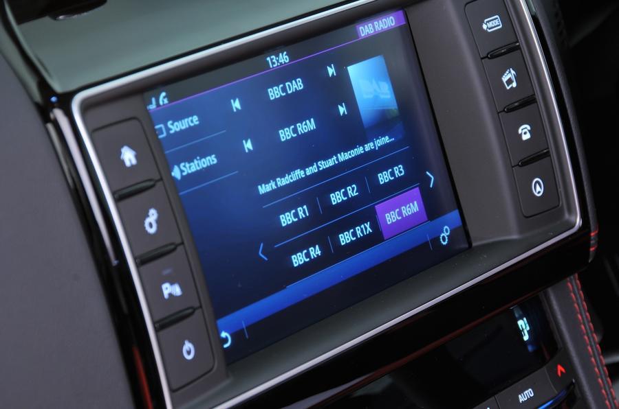 Jaguar F-Pace S Incontrol infotainment