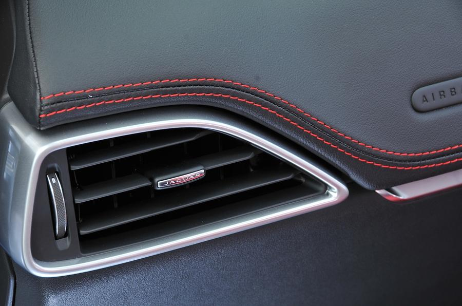 Jaguar F-Pace S air vents