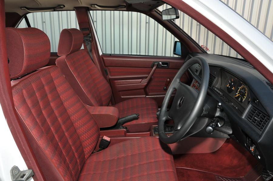 Mercedes 190E interior side view