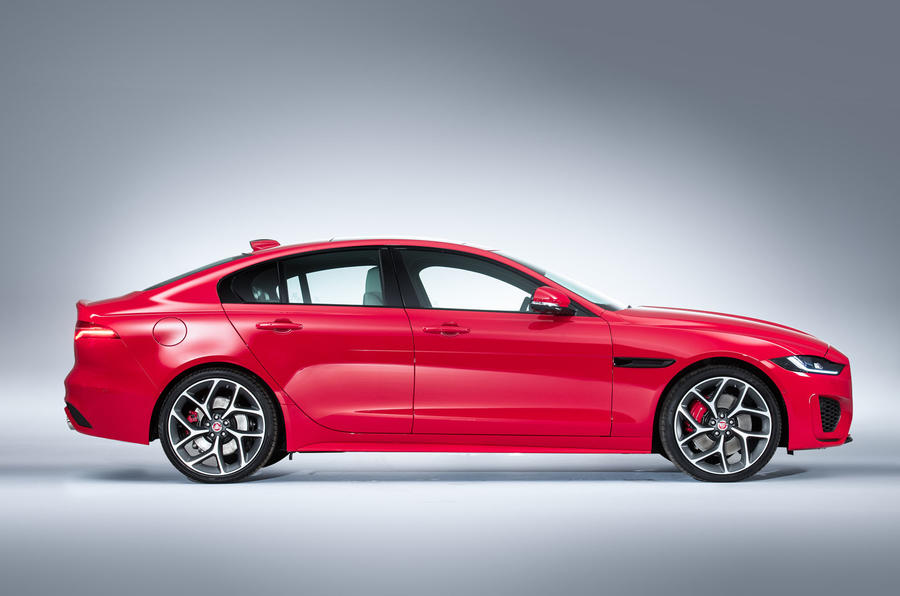2019 Jaguar XE side profile