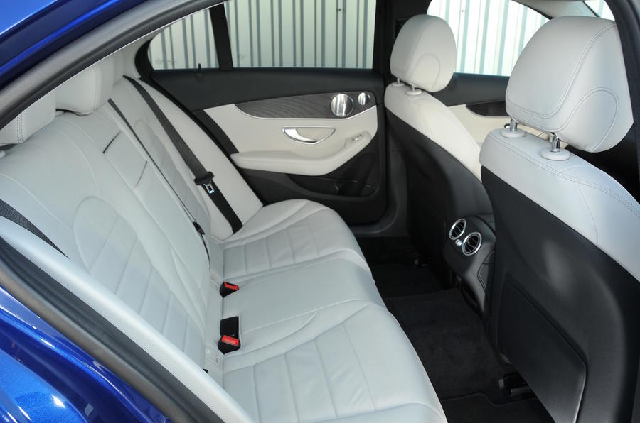 Mercedes-Benz C 350 e rear seats