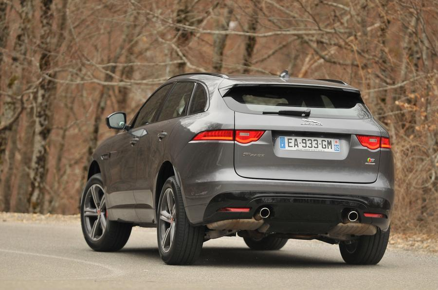 Jaguar F-Pace rear cornering