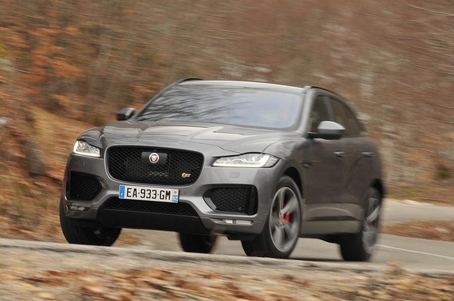 Jaguar F-Pace cornering