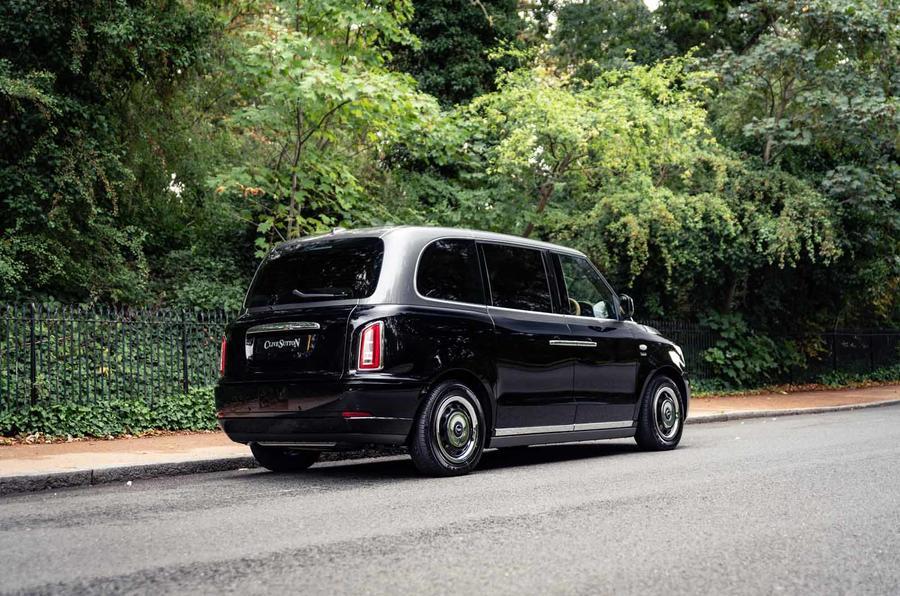 Sutton VIP Class LEVC taxi rear side