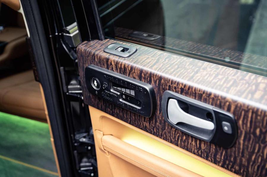 Sutton VIP Class LEVC taxi wood trim