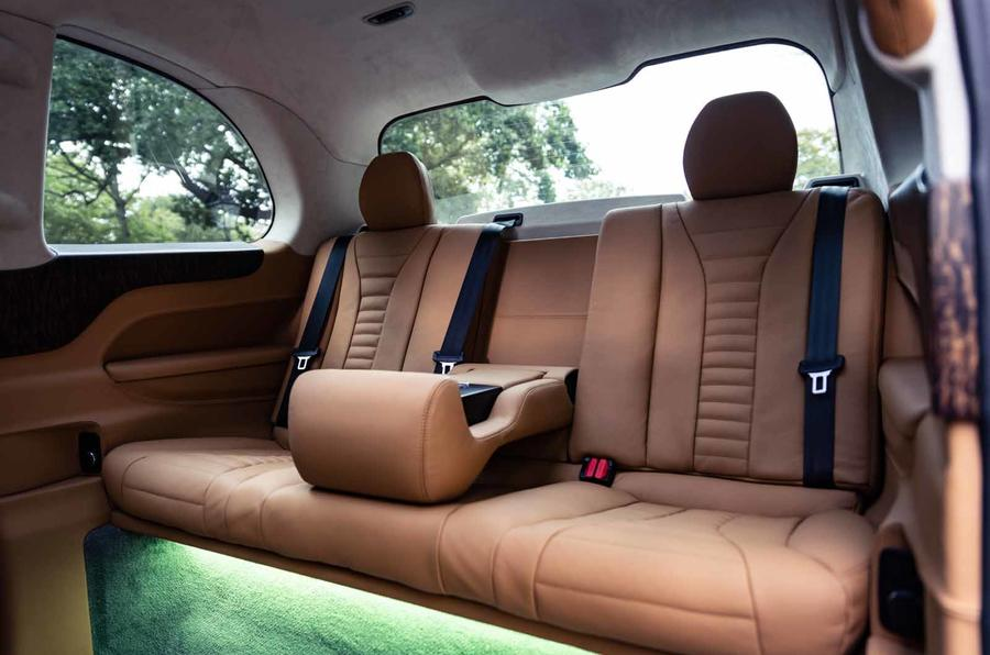 Sutton VIP Class LEVC taxi rear seats