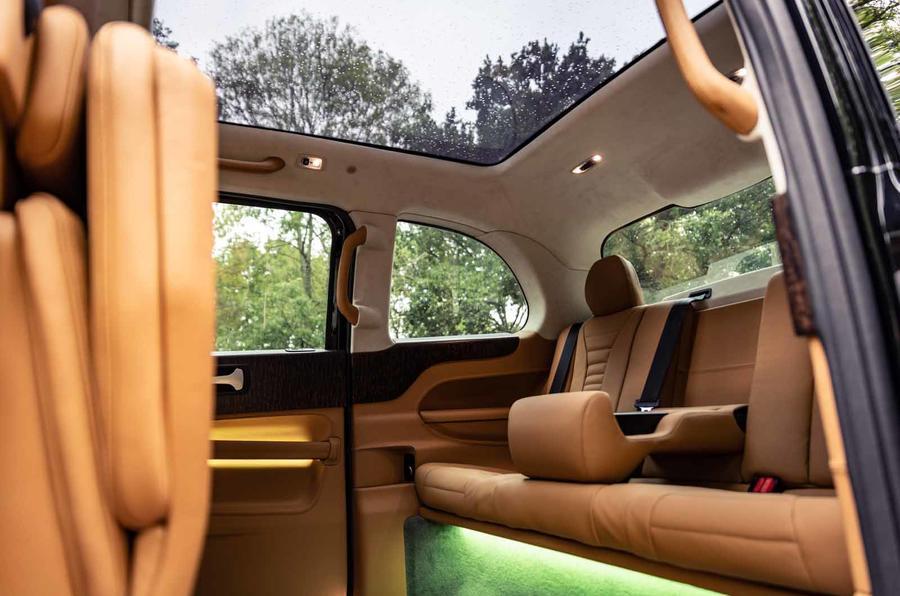 Sutton VIP Class LEVC taxi rear cabin