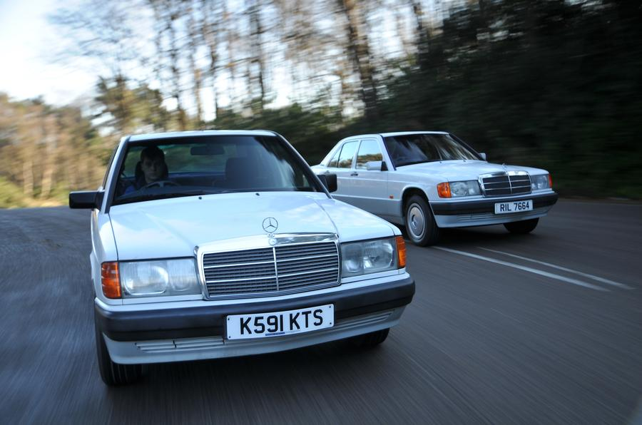 Mercedes 190E twin front shot