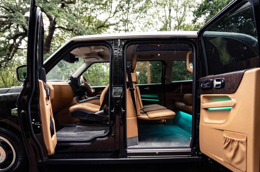 Sutton VIP Class LEVC taxi side interior