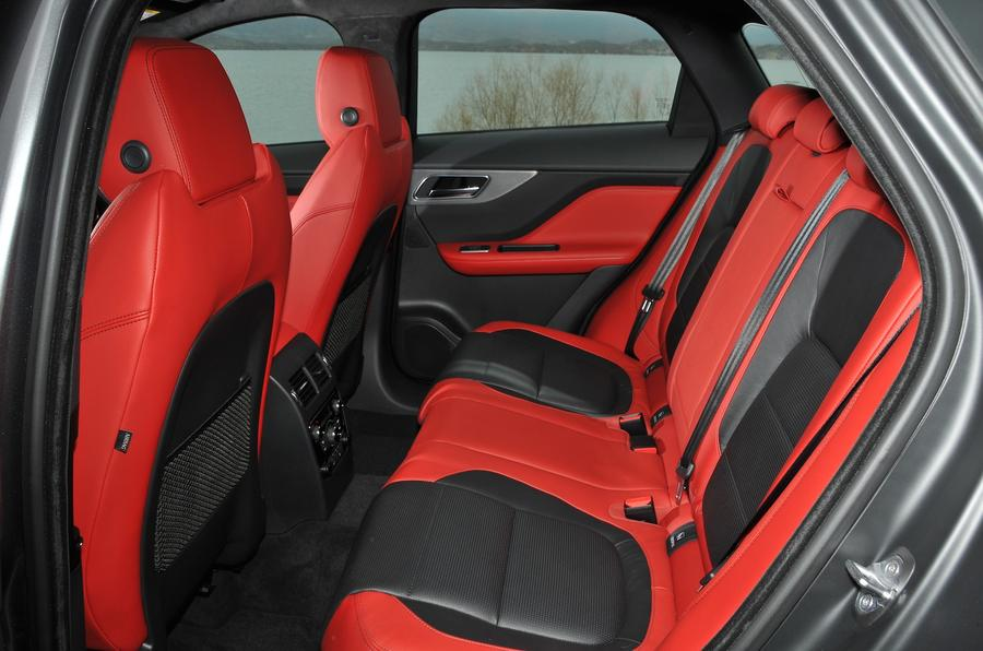 Jaguar F-Pace rear seats
