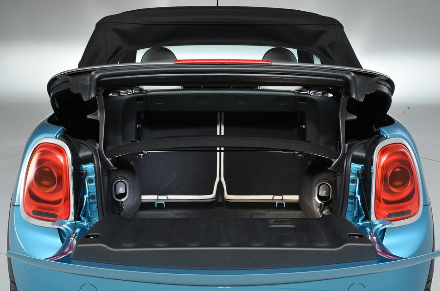 Mini Cooper Convertible boot opened