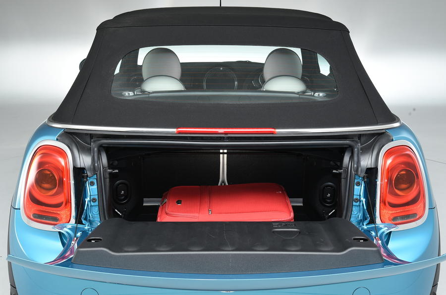 Boot space in the Mini Convertible
