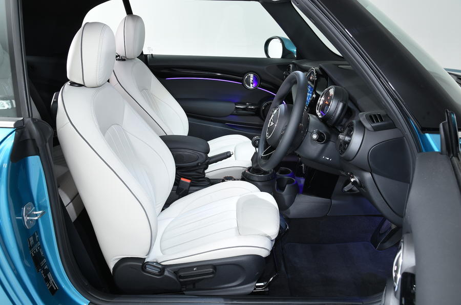 Mini Cooper Convertible front seats