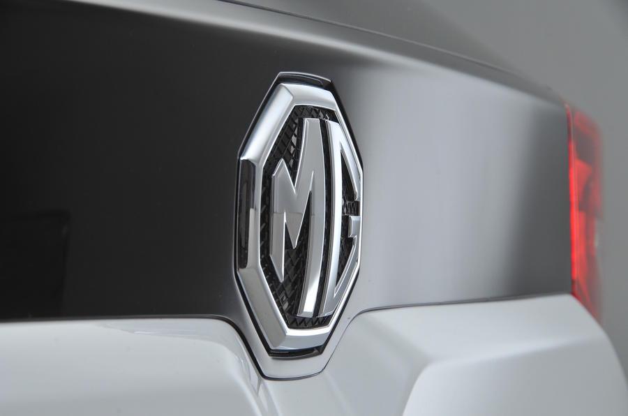 MG rear badge