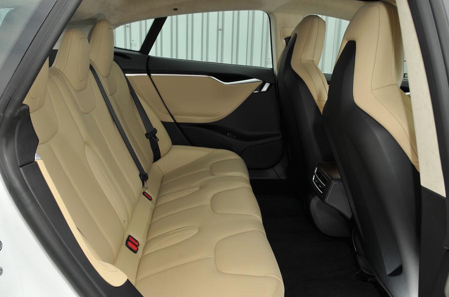 Tesla Model S 60D rear seats