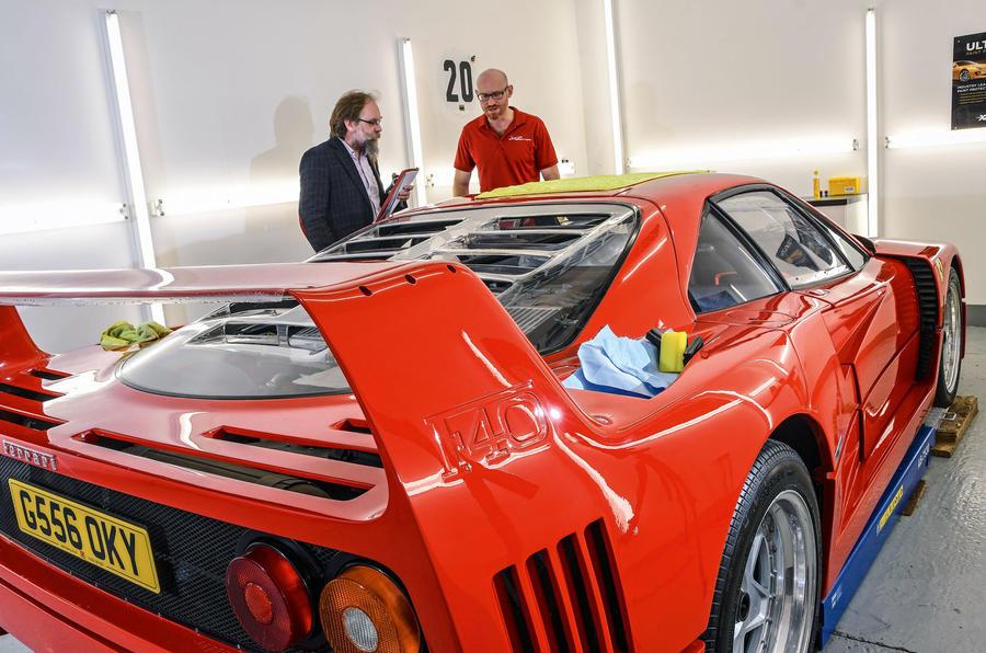 Ferrari F40 paint protection