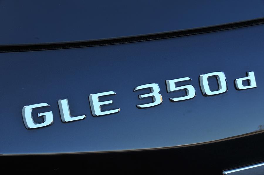 Mercedes-Benz GLE350 d badging