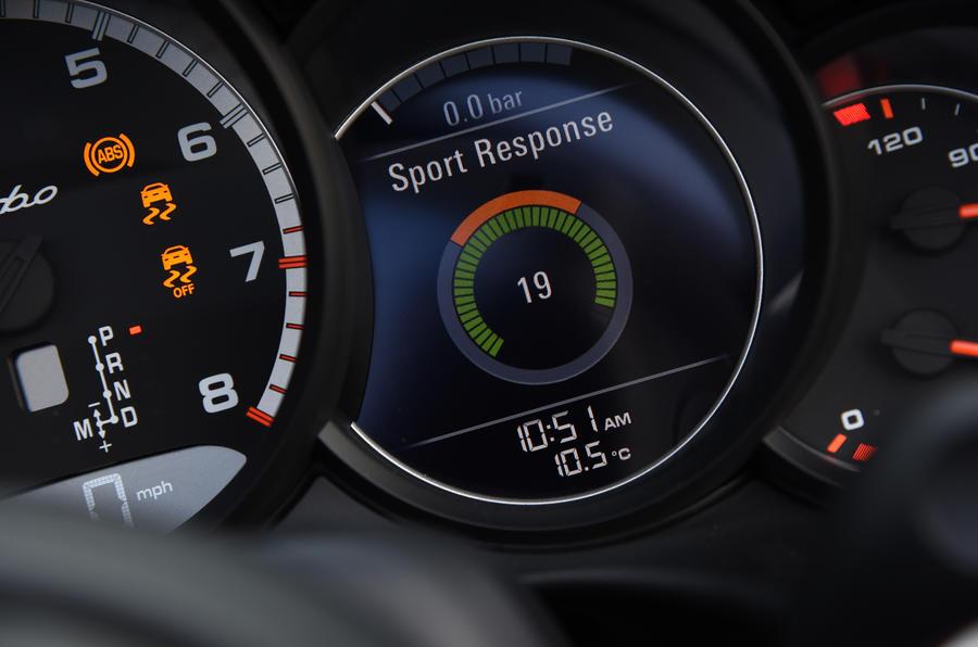 Porsche 911 digital display