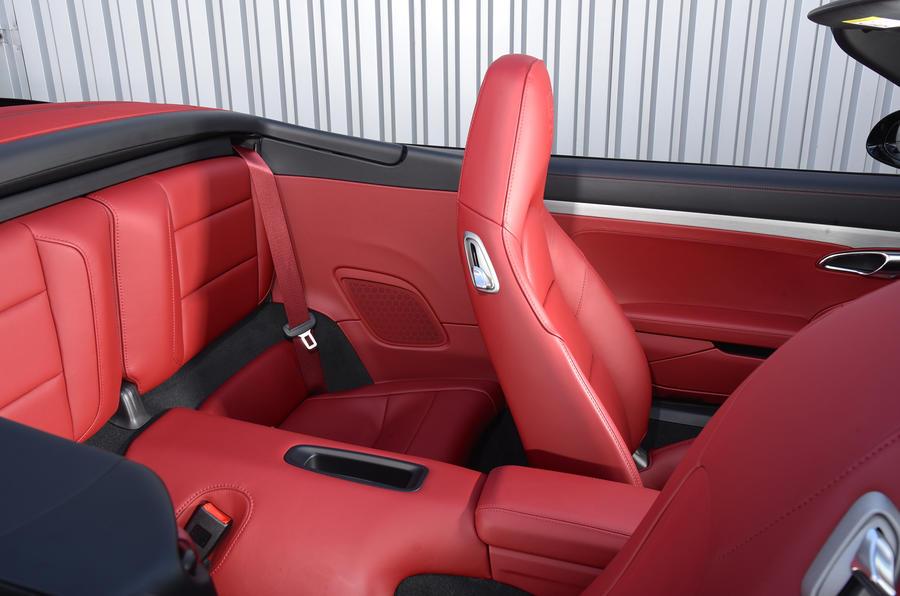 Porsche 911 Turbo Cabriolet rear seats