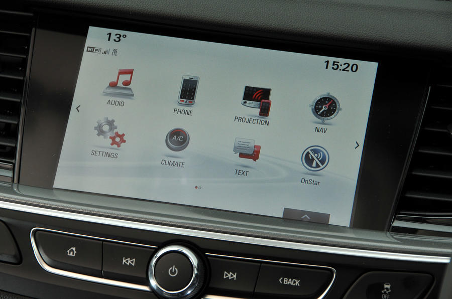 Vauxhall Insignia Grand Sport infotainment system