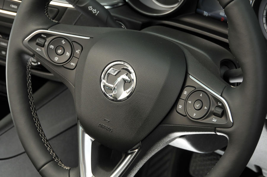 Vauxhall Insignia Grand Sport steering wheel