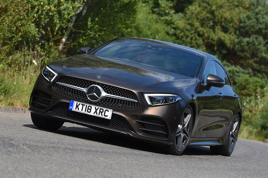 Mercedes-Benz CLS 350 d 2018 UK first drive hero front