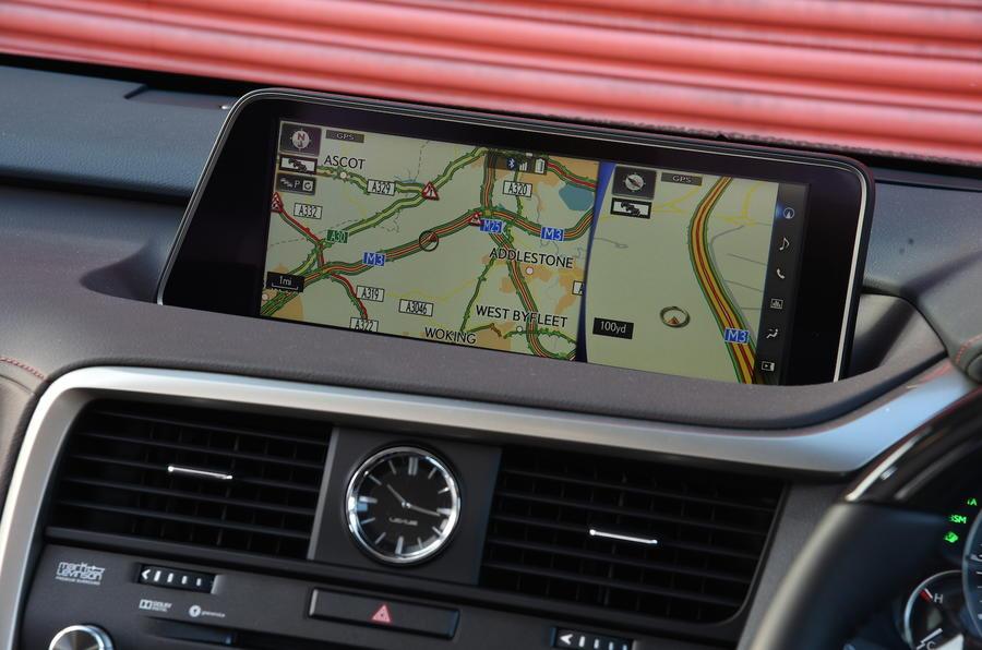 Lexus RX450h infotainment system