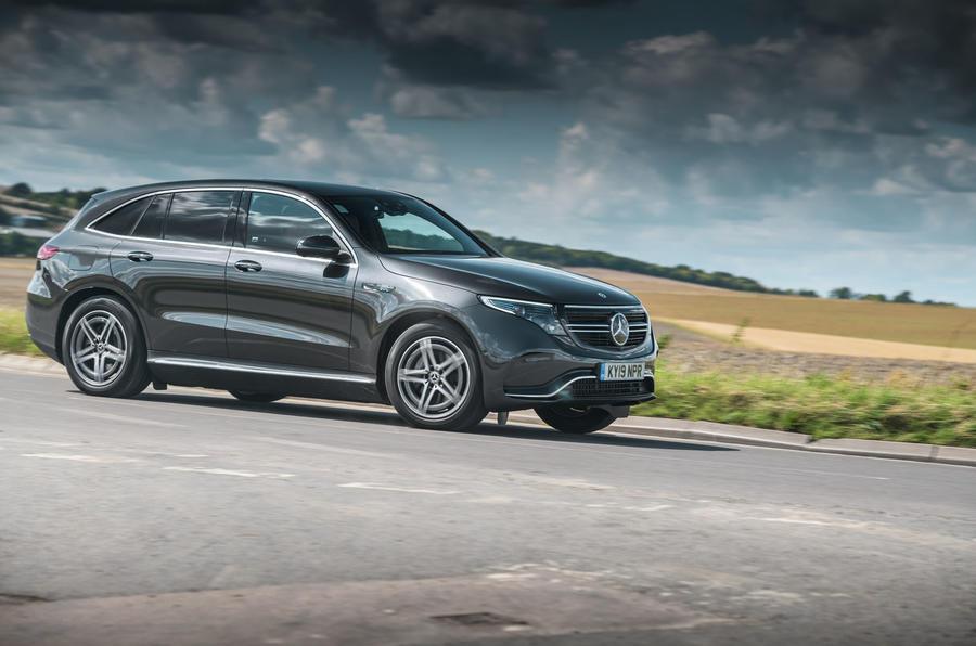 Mercedes-Benz EQC cornering - front