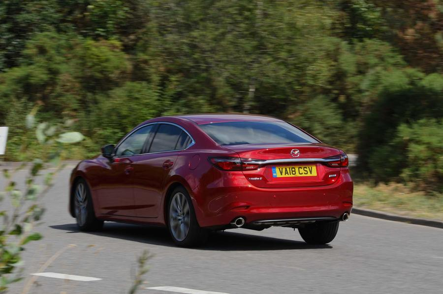 Mazda 6 165 Sport Nav 2018 UK first drive review - cornering rear