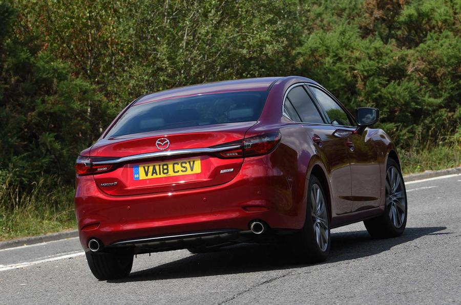 Mazda 6 165 Sport Nav 2018 UK first drive review - hero rear
