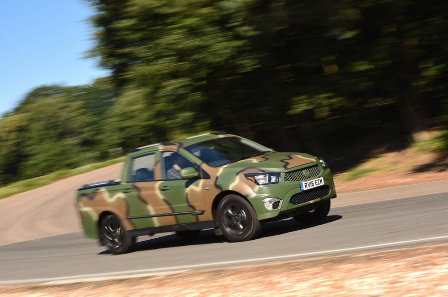 Ssangyong Korando Sports DMZ cornering