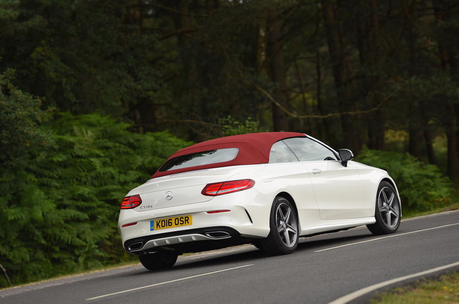 Mercedes-Benz C 220 d Cabriolet roof up