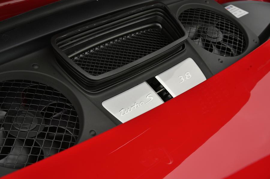 Porsche 911 Turbo S engine bay