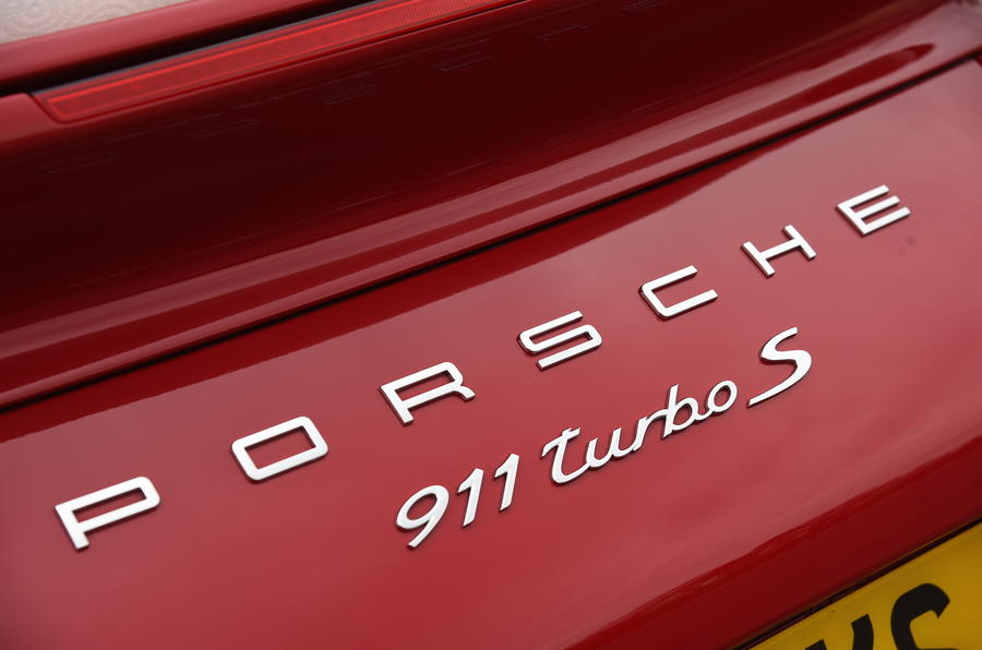 Porsche 911 Turbo S badging