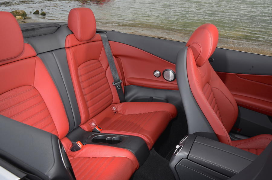 Mercedes-Benz C 220 d Cabriolet rear seats
